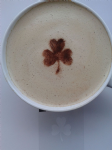 2 x Shamrock  coffee / cappuccino stencils    reusable many times  present cafe   fundraising Ireland Irish  football